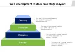 Web Development It Stack Four Stages Layout Ppt PowerPoint Presentation Ideas Display PDF