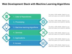 Web Development Stack With Machine Learning Algorithms Ppt PowerPoint Presentation Gallery Icon PDF