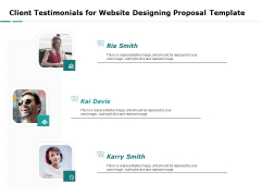 Web Engineering Client Testimonials For Website Designing Proposal Template Ppt Icon Examples PDF
