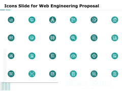 Web Engineering Icons Slide For Web Engineering Proposal Ppt Model Icons PDF