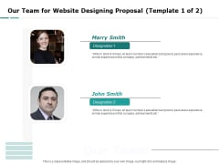 Web Engineering Our Team For Website Designing Proposal Template Achievements Ppt Layouts Guide PDF