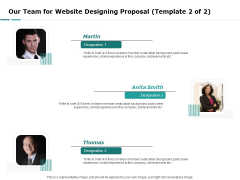 Web Engineering Our Team For Website Designing Proposal Template Ppt File Graphics Tutorials PDF