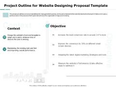 Web Engineering Project Outline For Website Designing Proposal Template Ppt Show Outline PDF
