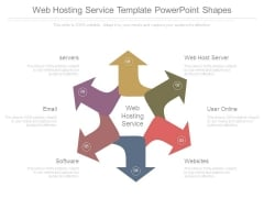 Web Hosting Service Template Powerpoint Shapes
