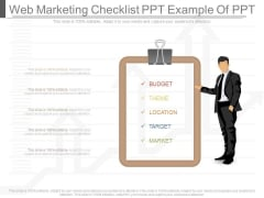 Web Marketing Checklist Ppt Example Of Ppt