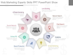 Web Marketing Experts Skills Ppt Powerpoint Show