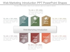 Web Marketing Introduction Ppt Powerpoint Shapes