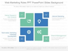 Web Marketing Roles Ppt Powerpoint Slides Background
