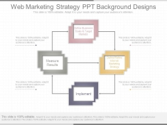 Web Marketing Strategy Ppt Background Designs