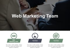 Web Marketing Team Ppt PowerPoint Presentation File Skills Cpb