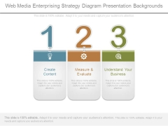 Web Media Enterprising Strategy Diagram Presentation Backgrounds