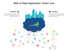Web Of Data Application Vector Icon Ppt PowerPoint Presentation Styles Backgrounds PDF