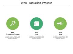 Web Production Process Ppt PowerPoint Presentation Portfolio Deck Cpb