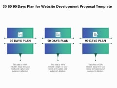 Web Redesign 30 60 90 Days Plan For Website Development Proposal Template Ppt Layouts Graphics Pictures PDF