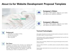 Web Redesign About Us For Website Development Proposal Template Ppt Ideas Maker PDF