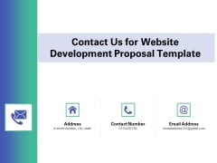 Web Redesign Contact Us For Website Development Proposal Template Ppt Pictures Information PDF
