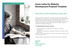 Web Redesign Cover Letter For Website Development Proposal Template Ppt Professional Smartart PDF