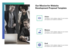 Web Redesign Our Mission For Website Development Proposal Template Ppt Infographic Template Format PDF