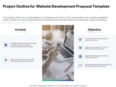 Web Redesign Project Outline For Website Development Proposal Template Ppt Styles Inspiration PDF