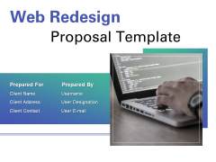 Web Redesign Proposal Template Ppt PowerPoint Presentation Complete Deck With Slides
