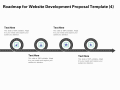 Web Redesign Roadmap For Website Design Proposal Template Four Stage Process Ppt Slides Summary PDF