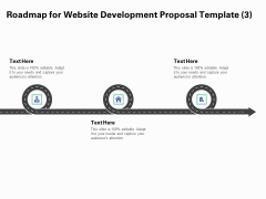 Web Redesign Roadmap For Website Design Proposal Template Three Stage Process Ppt Ideas Demonstration PDF