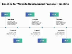 Web Redesign Timeline For Website Development Proposal Template Ppt Icon Skills PDF