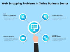 Web Scrapping Problems In Online Business Sector Ppt PowerPoint Presentation File Gallery PDF