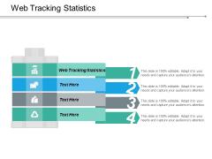 Web Tracking Statistics Ppt PowerPoint Presentation Model Summary Cpb