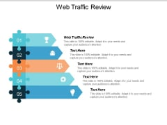Web Traffic Review Ppt PowerPoint Presentation Slides Grid Cpb