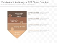 Website Audit And Analysis Ppt Slides Download