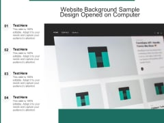Website Background Sample Design Opened On Computer Ppt PowerPoint Presentation File Clipart PDF