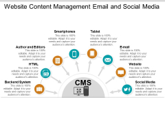 Website Content Management Email And Social Media Ppt Powerpoint Presentation Infographic Template Icons