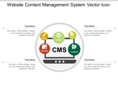 Website Content Management System Vector Icon Ppt Powerpoint Presentation Pictures Deck