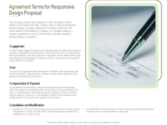 Website Design And Development Agreement Terms For Responsive Design Proposal Formats PDF