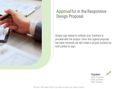 Website Design And Development Approval For In The Responsive Design Proposal Microsoft PDF