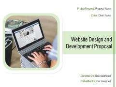 Website Design And Development Proposal Ppt PowerPoint Presentation Complete Deck With Slides
