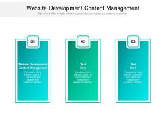 Website Development Content Management Ppt PowerPoint Presentation Summary Information Cpb Pdf