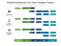 Website Development Five Years Workplan Timeline Structure