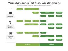 Website Development Half Yearly Workplan Timeline Demonstration
