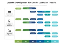 Website Development Six Months Workplan Timeline Download