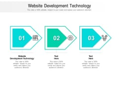 Website Development Technology Ppt PowerPoint Presentation Pictures Designs Cpb Pdf