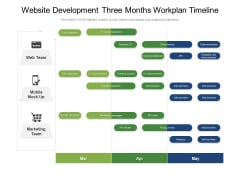 Website Development Three Months Workplan Timeline Themes
