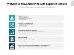 Website Improvement Plan With Expected Results Ppt PowerPoint Presentation Inspiration Example PDF