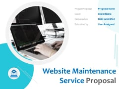 Website Maintenance Service Proposal Ppt PowerPoint Presentation Complete Deck With Slides