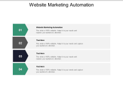 Website Marketing Automation Ppt PowerPoint Presentation Layouts Ideas Cpb