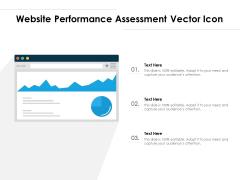 Website Performance Assessment Vector Icon Ppt PowerPoint Presentation File Slides PDF
