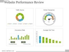 Website Performance Review Template 2 Ppt PowerPoint Presentation Professional Portrait