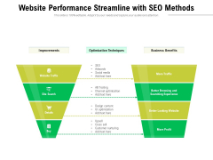 Website Performance Streamline With Seo Methods Ppt PowerPoint Presentation Professional Background Designs PDF