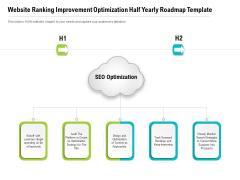 Website Ranking Improvement Optimization Half Yearly Roadmap Template Template